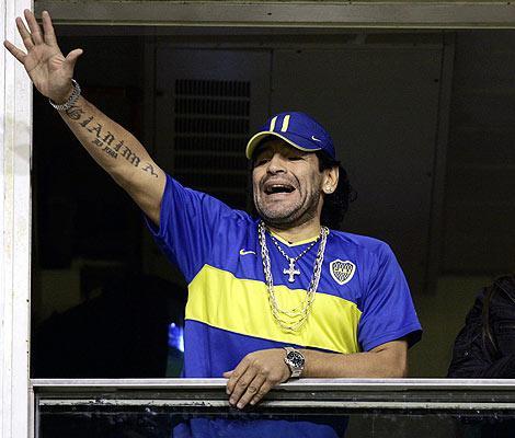 Armando Maradona Lleva En Su Antebrazo El Nombre De Hija Giannina