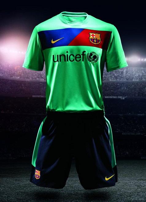 Segunda camiseta del Barça de color verde