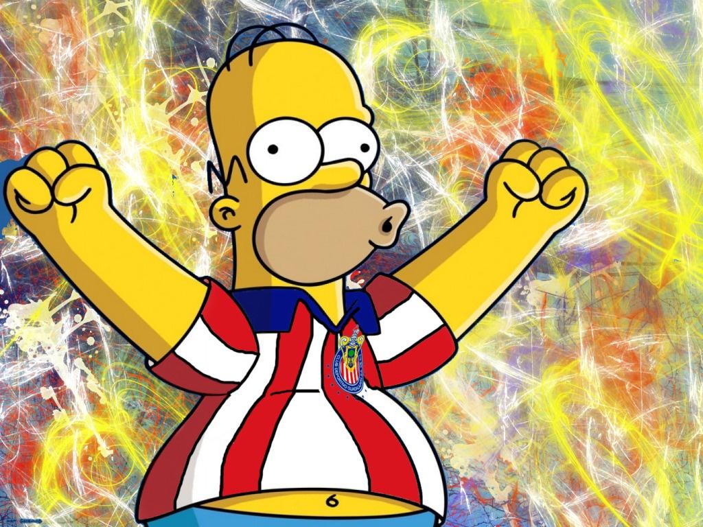 Homero Simpson es hincha del Chivas de Guadalajara , no te lo pierdas
