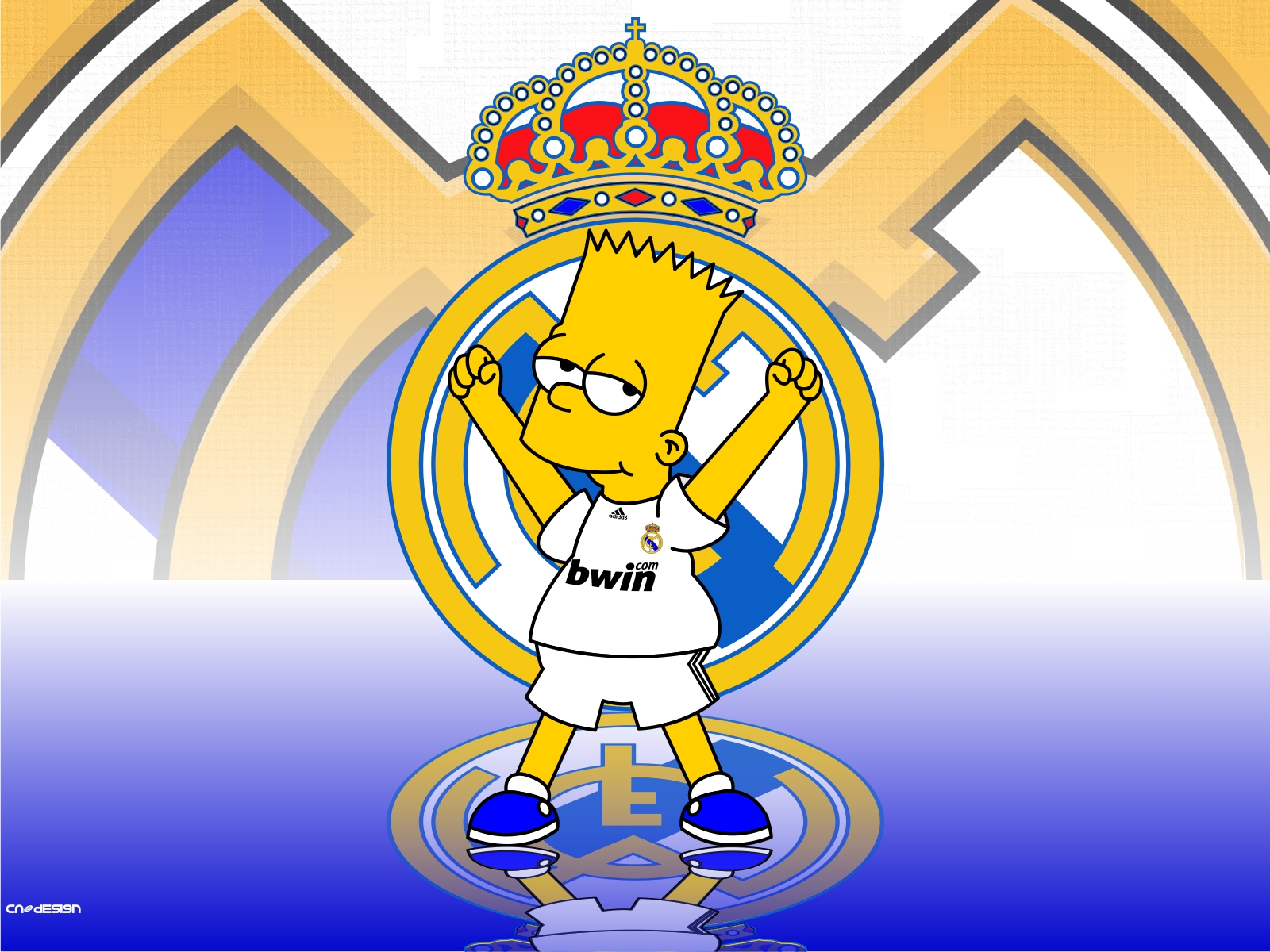La familia Simpson es fan del Real Madrid , no te pierdas a Bart y
