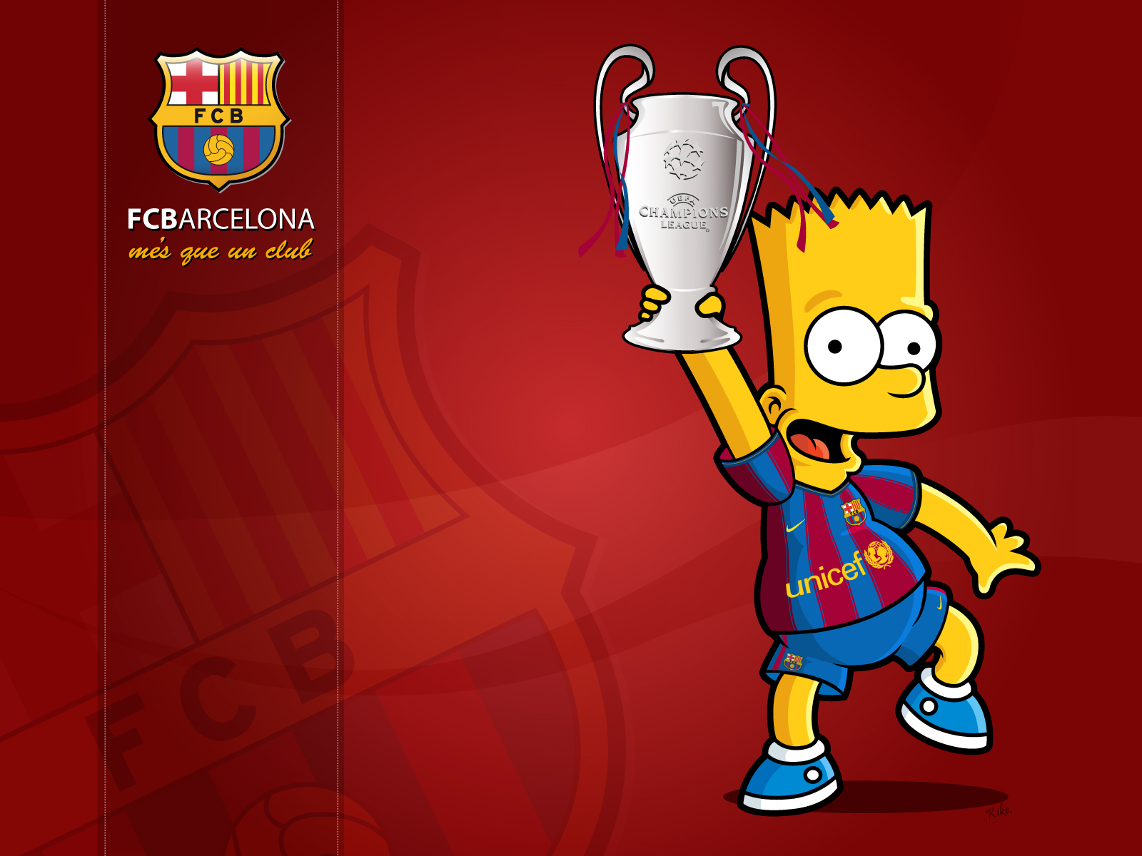 Familia Simpson Es Fan Del Barca No Te Pierdas A Bart Y Homer Simpson