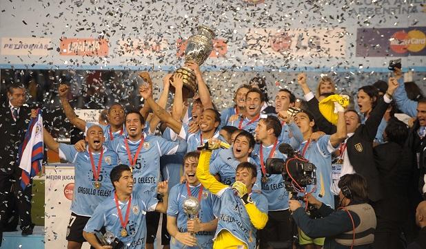 uruguay campeon de america! todos los goles.