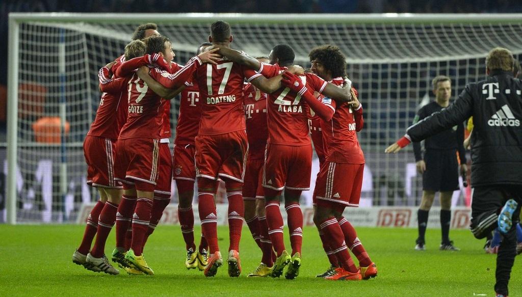Bayern celebrando la Bundesliga
