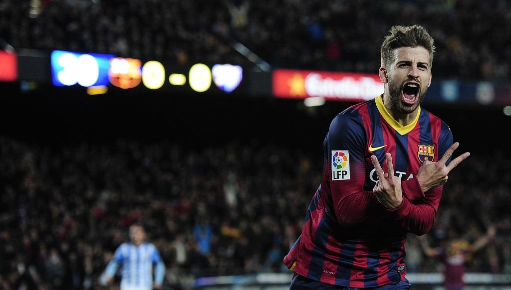 Gerard Pique celebrando un gol