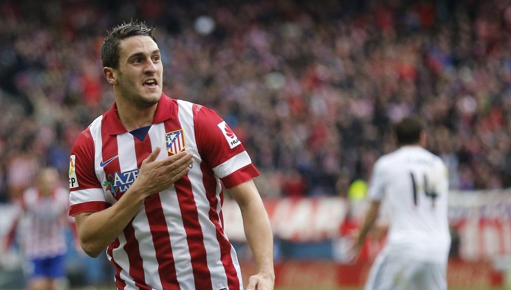 Koke Atletico celebrando un gol