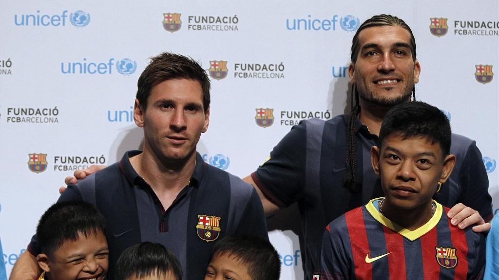 Pinto y Messi amigos