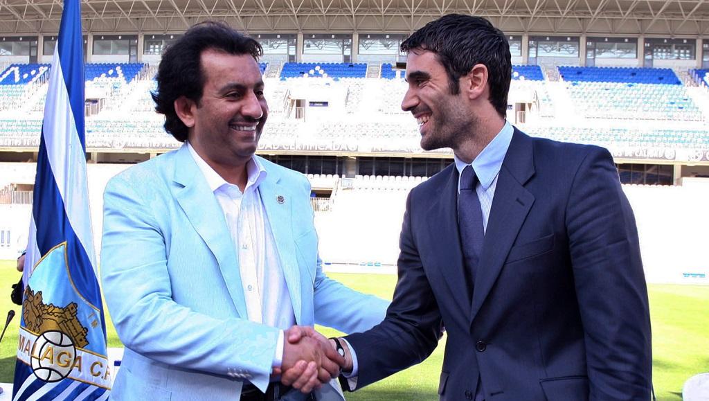 Al Thani con Fernando Sanz