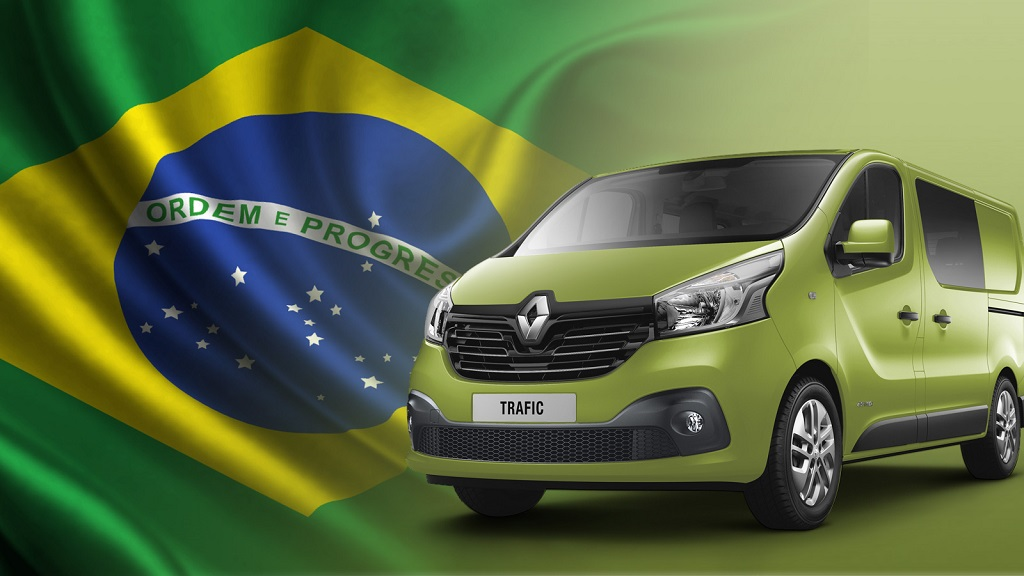 Renault Trafic bandera de Brasil
