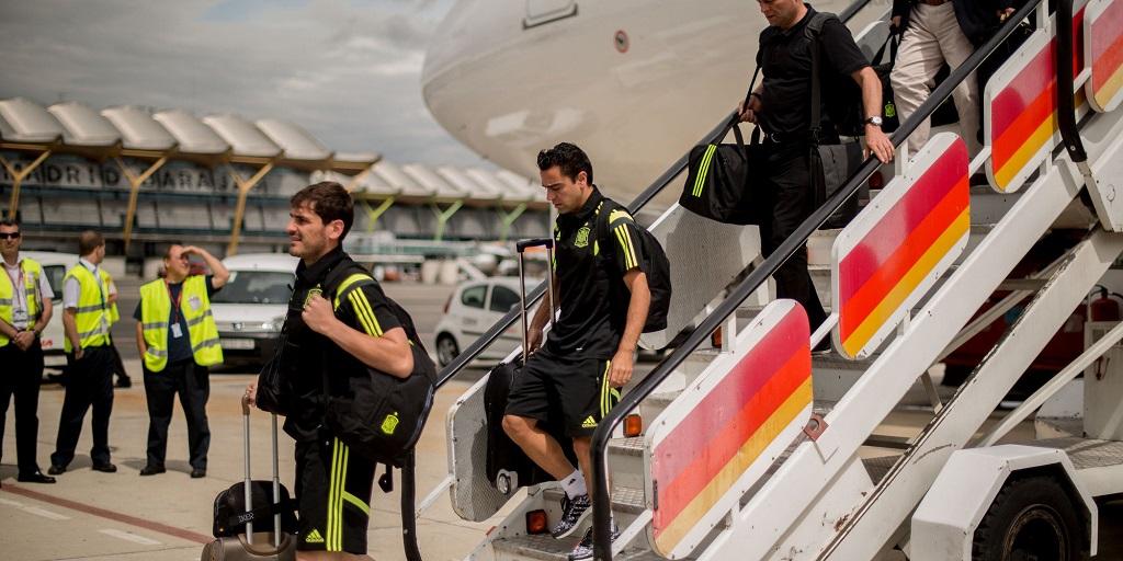 Casillas y Xavi Barajas