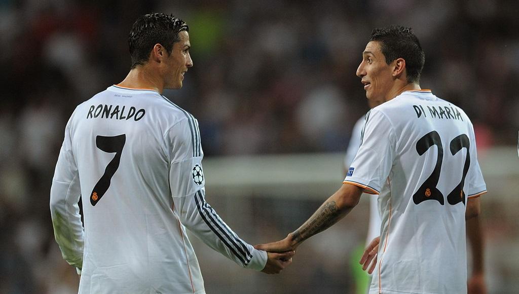 Angel Di Maria y Cristiano Ronaldo
