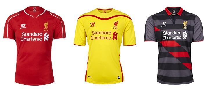 Camisetas Liverpool 2014-2015