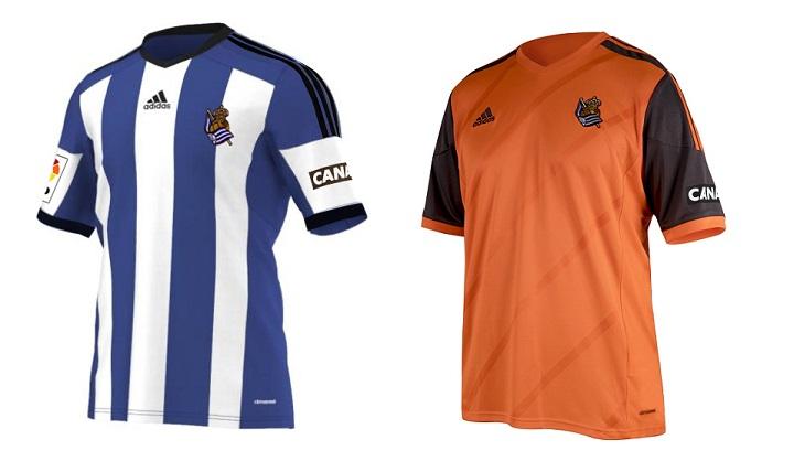 Camisetas Real Sociedad 2014-2015
