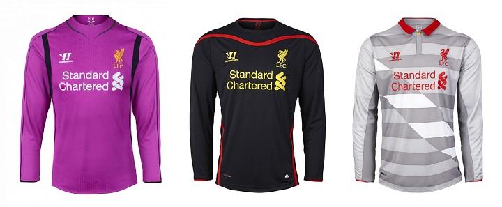 Camisetas de portero Liverpool 2014-2015