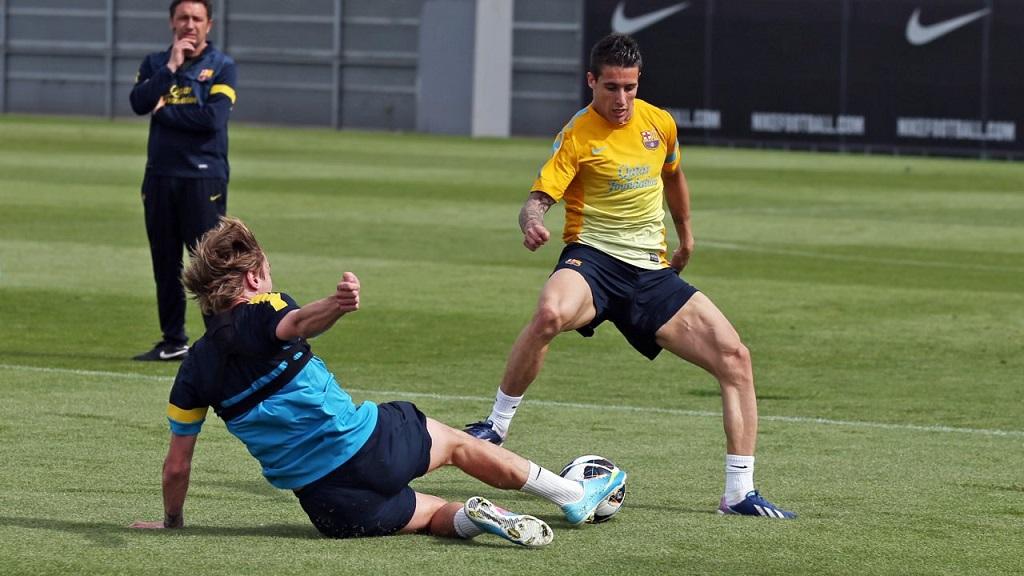 Cristian Tello entrenamiento