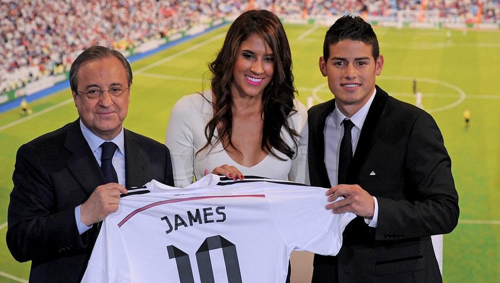 Florentino con Daniela Ospina y James Rodriguez