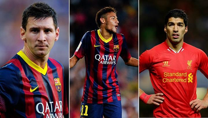 Leo Messi Neymar y Luis Suarez