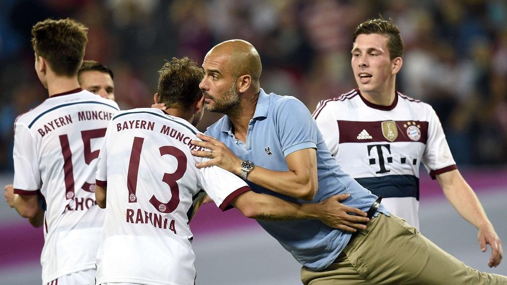 Guardiola y Rafinha