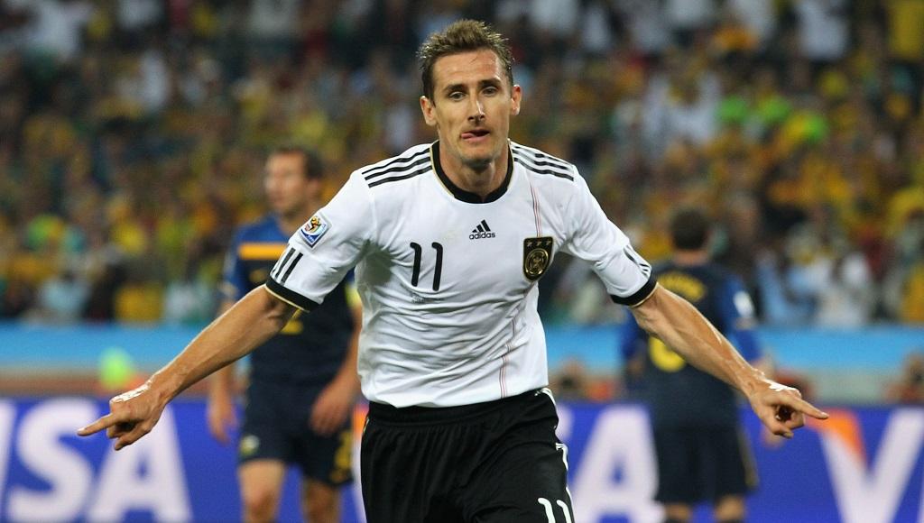 Miroslav Klose celebrando un gol