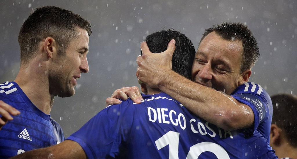 Terry Cahill y Diego Costa