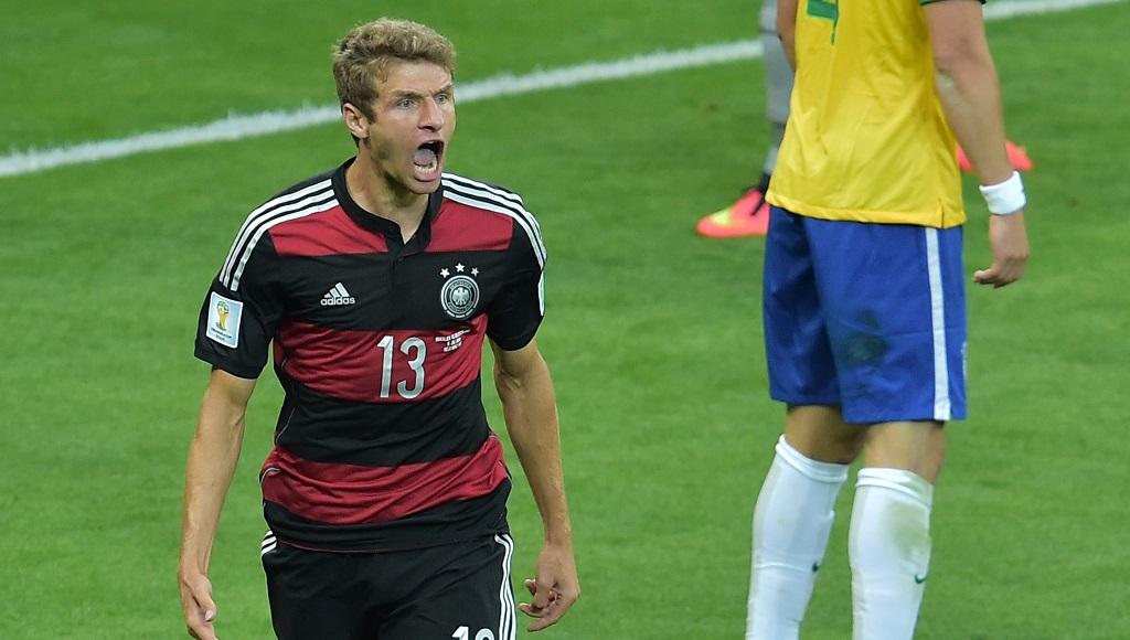 Thomas Muller celebrando un gol