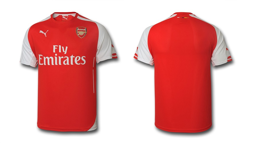 Camiseta Arsenal 2014-2015
