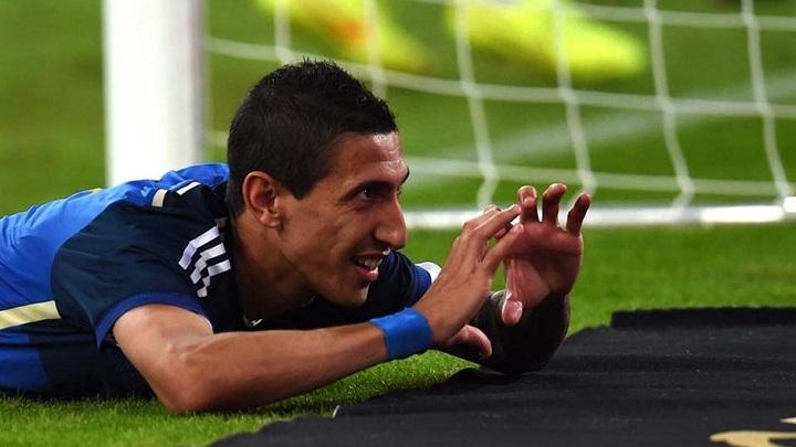 Angel Di Maria celebrando un gol