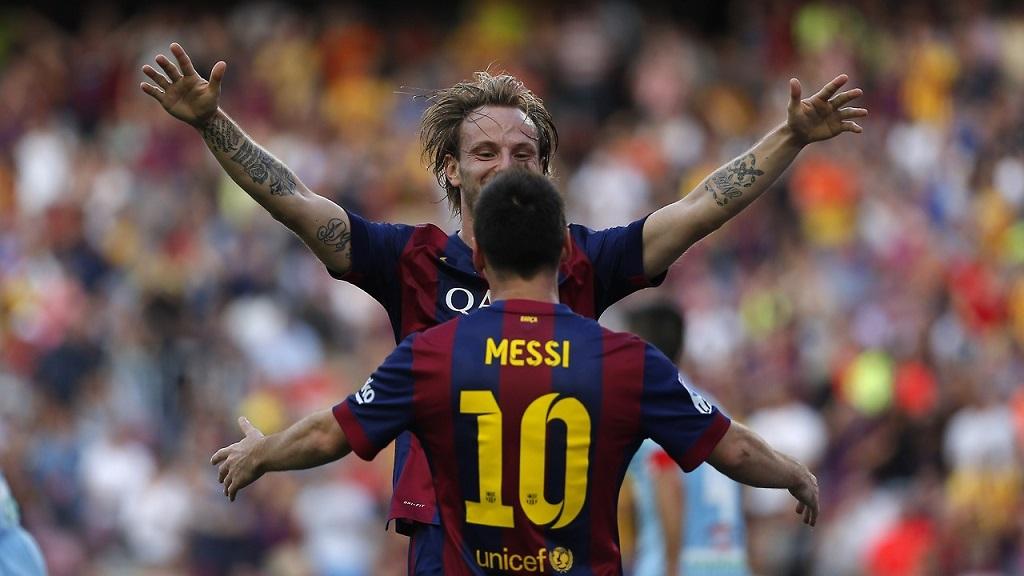 Leo Messi y Rakitic
