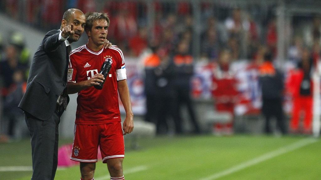 Pep Guardiola y Lahm
