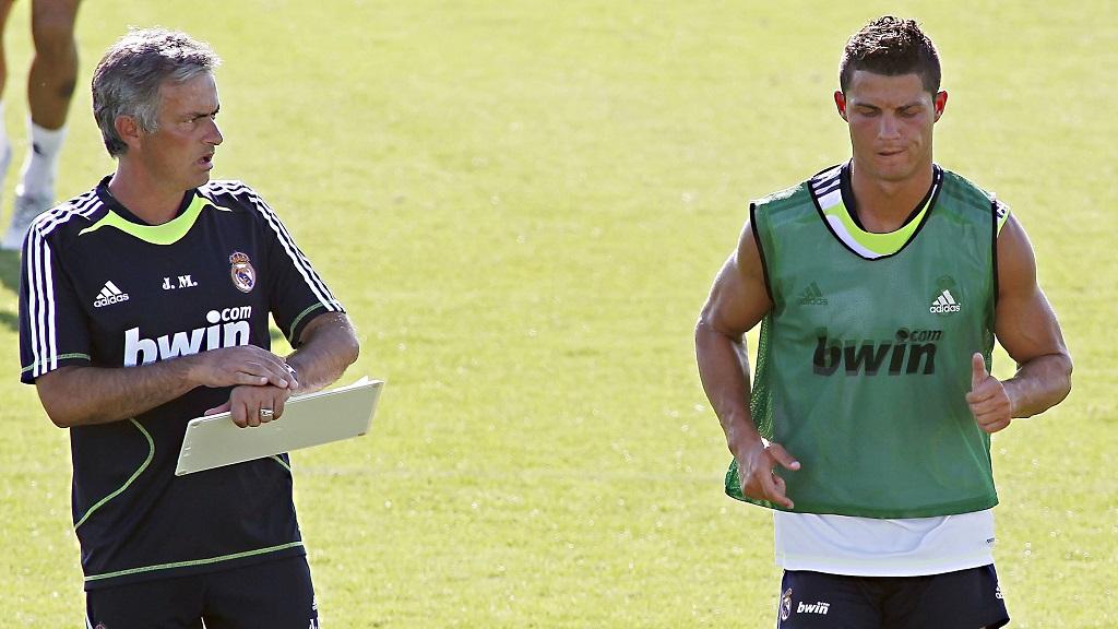 Cristiano Ronaldo y Jose Mourinho