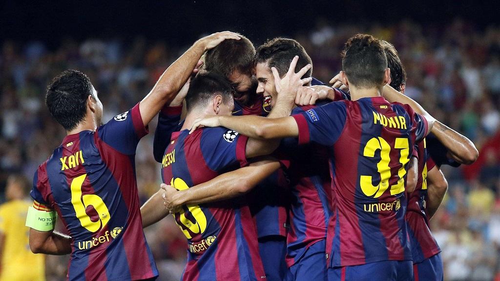 gol barcelona APOEL