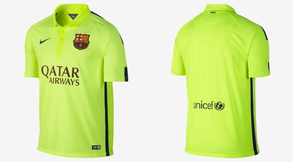 tercera camiseta Barcelona 2014-2015