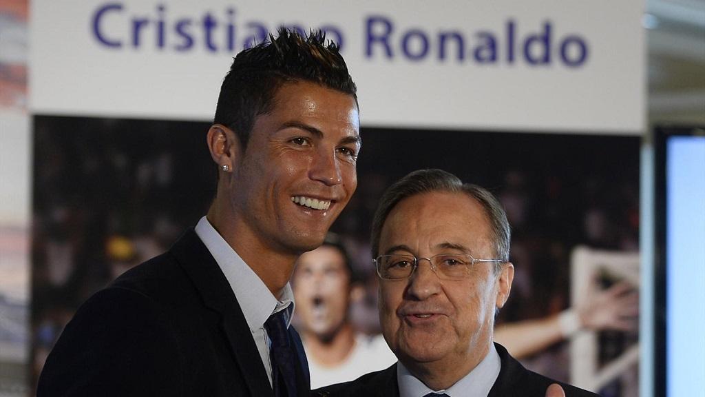 Cristiano y Florentino Perez