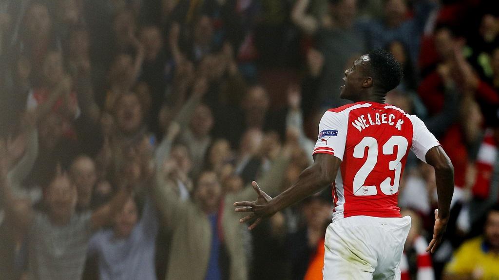 Danny Welbeck celebrando un gol