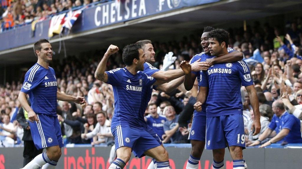 Diego Costa celebrando su gol