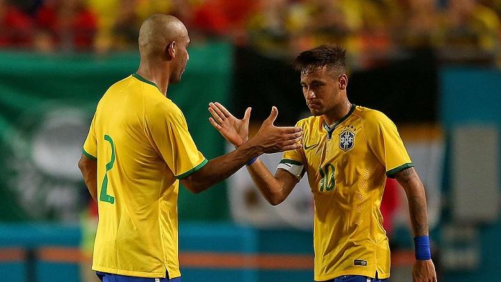 Neymar y Maicon