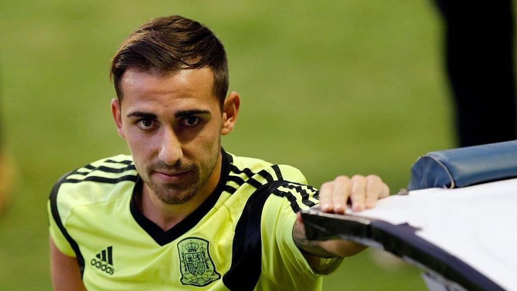 Paco Alcacer entrenamiento seleccion