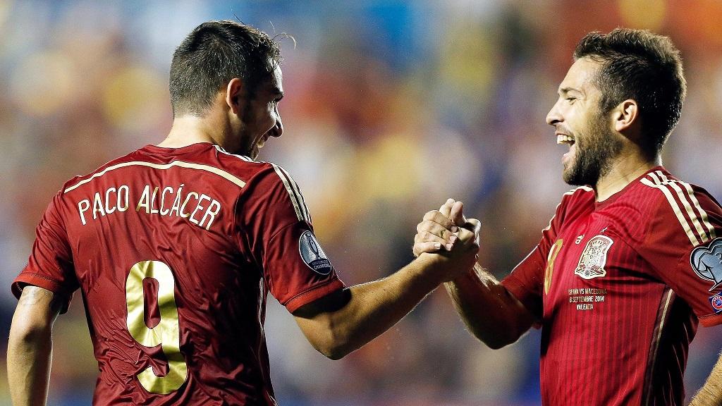 Paco Alcacer y Jordi Alba