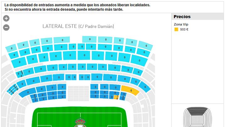 venta de entradas para ver el real madrid: