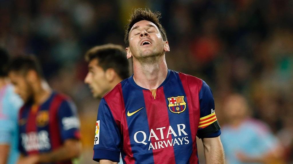 Leo Messi lamentandose