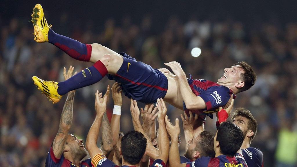 Leo Messi manteado