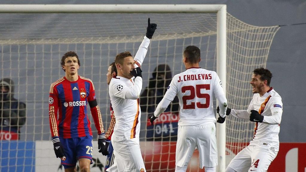 Totti gol CSKA