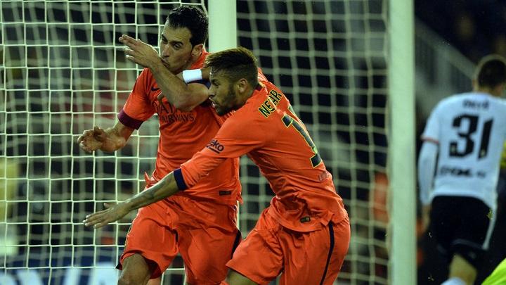 Busquets y Neymar