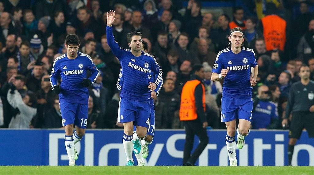 Cesc Fabregas celebrando un gol