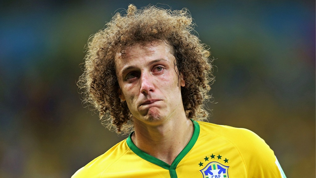 David Luiz llorando