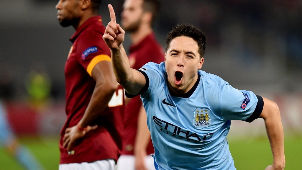Samir Nasri celebrando un gol