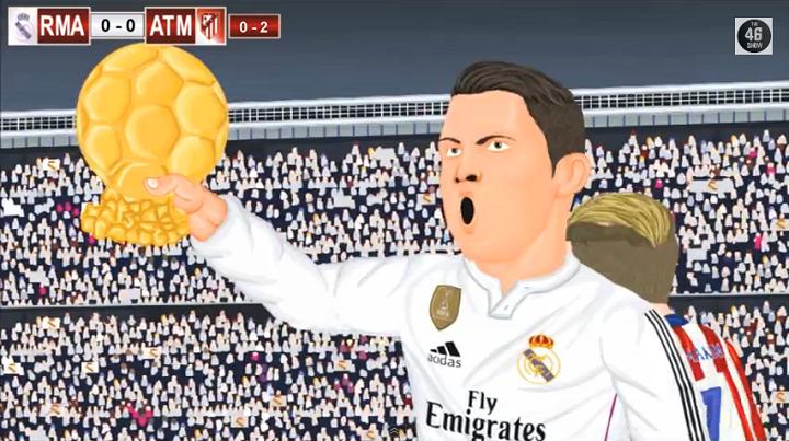 Cristiano Balon de Oro animacion