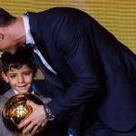 El hijo de Cristiano Ronaldo es fan de Messi