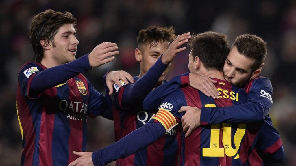 Sergi Roberto Neymar Messi y Jordi Alba