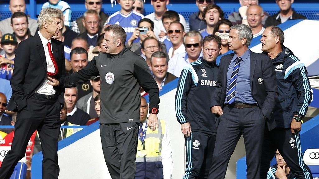 Arsene Wenger y Jose Mourinho