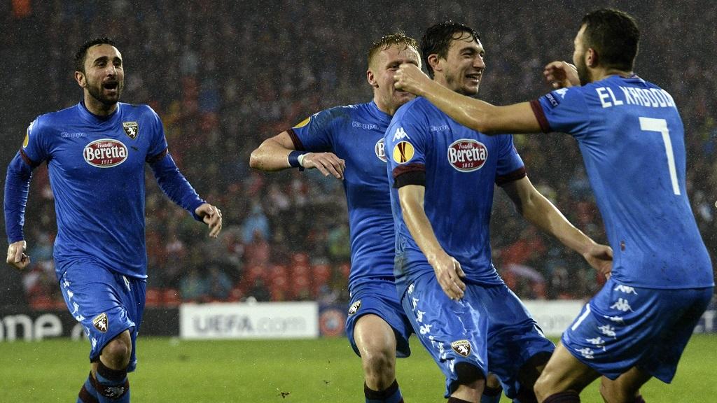 Jugadores del Torino celebrando un gol